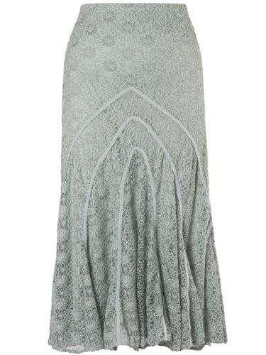 Opal Daisy Stretch Lace Cathedral Detail Skirt